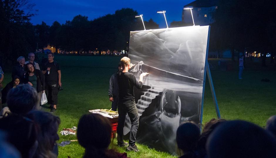 Livemalerei – Across the borders Aachen